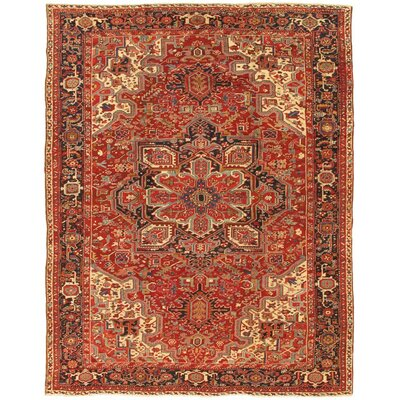 Heriz Hand-Knotted Rust/Navy Area Rug