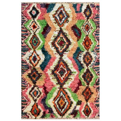 Moroccan Hand-Knotted Area Rug