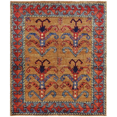 Moroccan Hand-Knotted Camel Area Rug