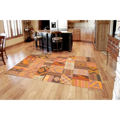 Patchwork Hand-Knotted Area Rug Rug Size: Rectangle 66 x 98