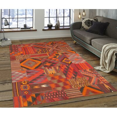 Patchwork Hand-Woven Area Rug Rug Size: Rectangle 59 x 81