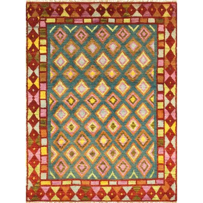 Anatolian Hand-Knotted Rust Area Rug