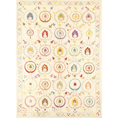 Suzani Hand-Knotted Area Rug
