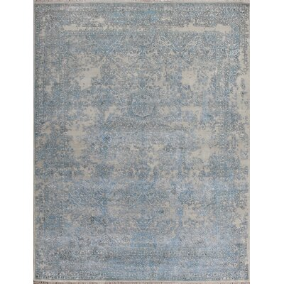 Hand-Knotted Beige Area Rug Rug Size: 10 x 14