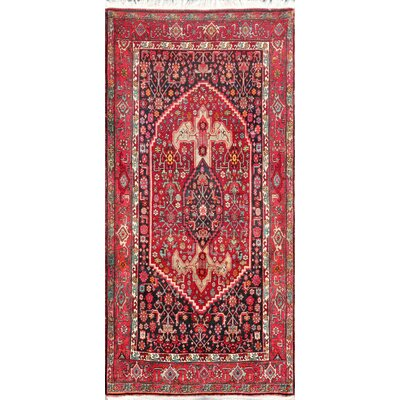 Bidjar Hand-Knotted Red Area Rug