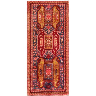 N.w Hand-Knotted Red Area Rug