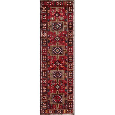 Karajeh Hand-Knotted Red Area Rug
