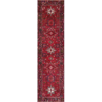 Karajeh Hand-Knotted Red / Rust Area Rug