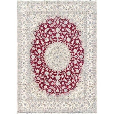 Nain Hand-Knotted Red / Ivory Area Rug