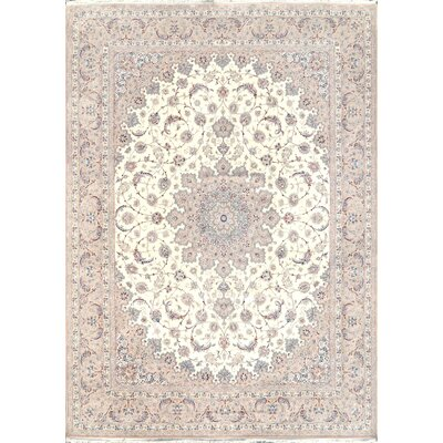 Isfahan Hand-Knotted Ivory Area Rug