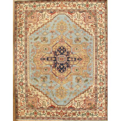 Serapi Hand-Knotted Light Blue Area Rug
