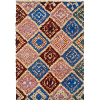 Moroccan Hand-Knotted Multi-Colored Area Rug