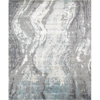 Modern Hand-Knotted Gray Area Rug