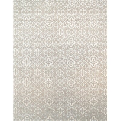 Modern Hand-Knotted Light Gray Area Rug