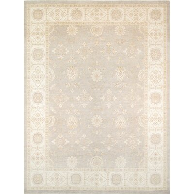 Ferehan Hand-Knotted Light Gray/Ivory Area Rug