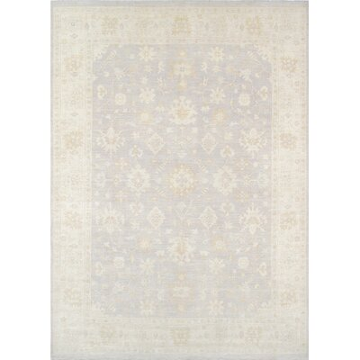 Oushak Hand-Knotted Gray/Ivory Area Rug