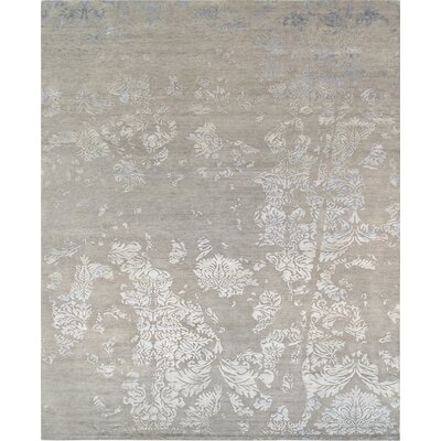 Modern Hand-Knotted Gray Area Rug Rug Size: 8 x 10