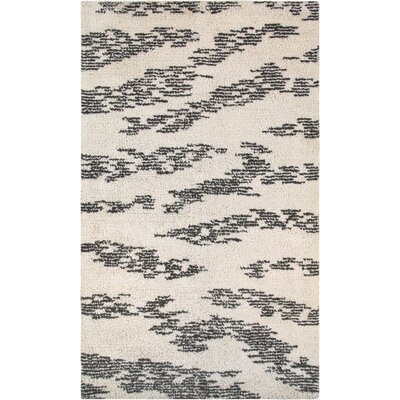 Moroccan Hand-Knotted Ivory Area Rug