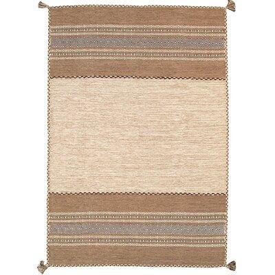 Kilim Hand-Woven Ivory Area Rug Rug Size: 8 x 10