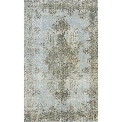 Overdyed Hand-Knotted Gray Area Rug