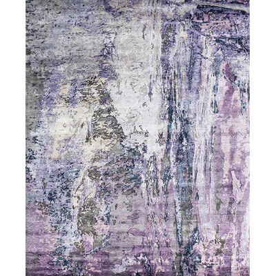 Modern Hand-Knotted Area Rug Rug Size: 8' x 10'