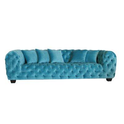 Casa Milano Velvet Tufted Chesterfield Sofa