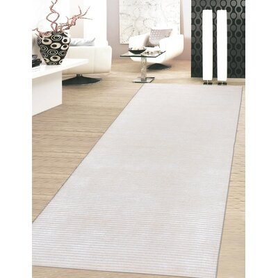 Edgy Hand-Tufted Beige Area Rug Rug Size: Runner 28 x 10