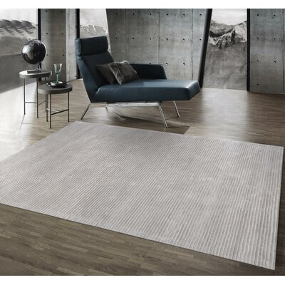 Edgy Hand Tufted Wool Gray Area Rug Rug Size: Rectangle 7 9 x 9 9