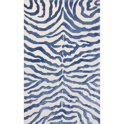Edgy Hand-Tufted Blue/Beige Area Rug