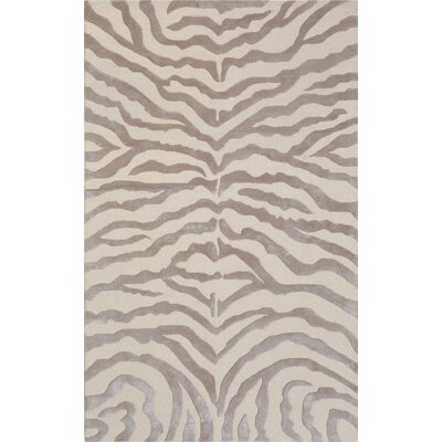 Edgy Hand-Tufted Beige Area Rug