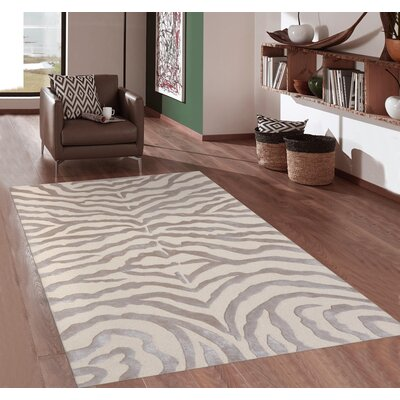 Edgy Hand Tufted Wool Brown/Beige Area Rug