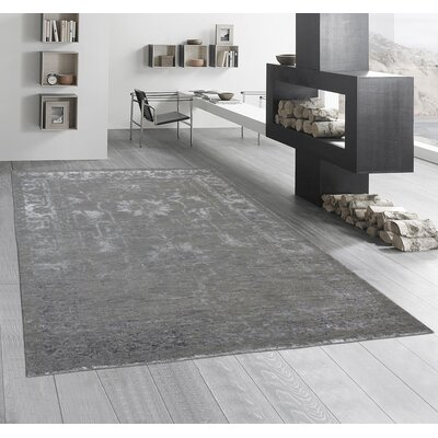 Hand-Knotted Olive Area Rug Rug Size: Runner 26 x 10