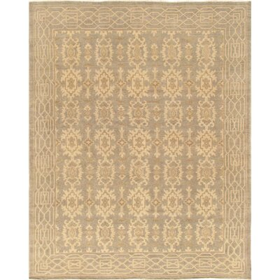 Khotan Hand-Knotted Light Gray/Beige Area Rug Rug Size: 2 x 3