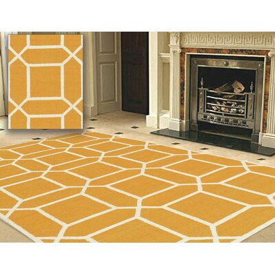 Sahara Orange/Ivory Area Rug Rug Size: 6 x 9