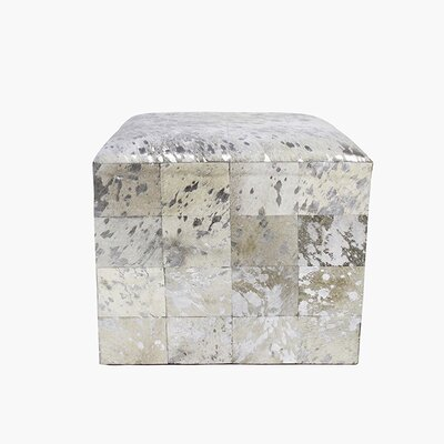 Forest Cowhide Leather Ottoman