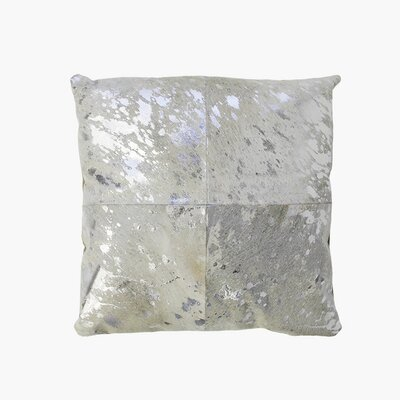 Forest Cowhide Throw Pillow Size: 19 x 19