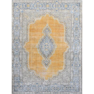 Hand Knotted Gold Area Rug