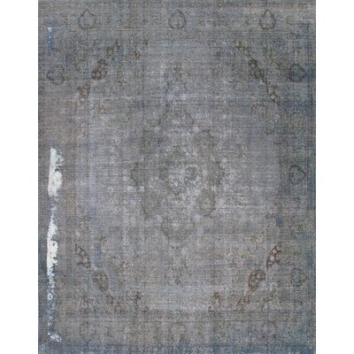 Hand-Knotted Blue Area Rug