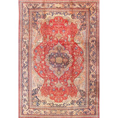 Ferehan Hand-Knotted Orange Area Rug
