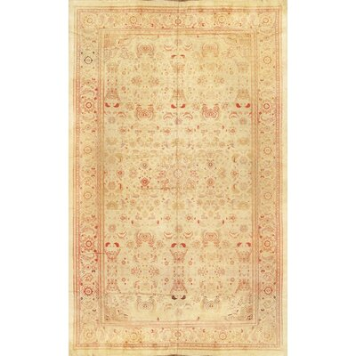 Amritsar Hand-Knotted Beige Area Rug