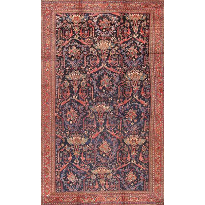 Sultanabad Hand-Knotted Orange/Red Area Rug