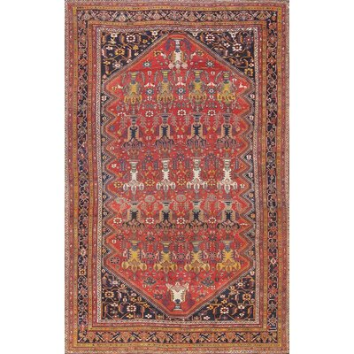 Bakhtiari Hand-Knotted Orange/Navy Area Rug