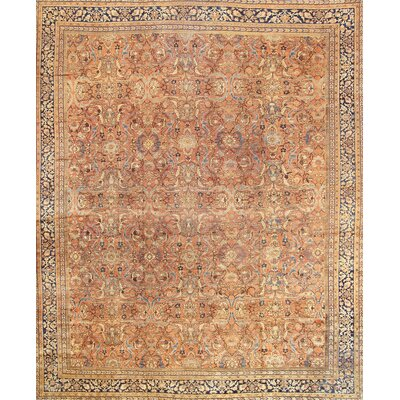 Mahal Hand-Knotted Salmon Area Rug