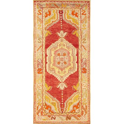 Anatolian Lambs Wool Hand-Knotted Red/Yellow Area Rug