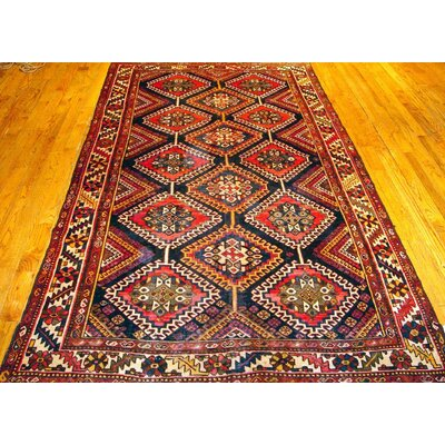 Bakhtiari Hand-Knotted Red Area Rug