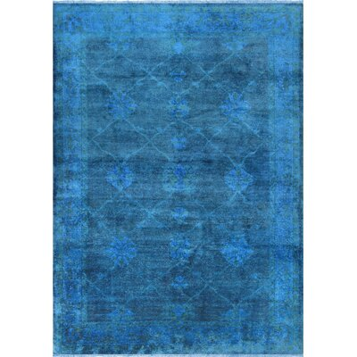 Overdye Hand-Knotted Blue Area Rug