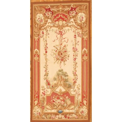 Tapestry Hand-Knotted Beige/Orange Area Rug