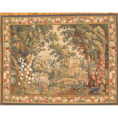Tapestry Hand-Knotted Green/Brown Area Rug