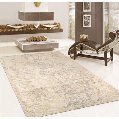Hand-Tufted Beige/Taupe Area Rug Rug Size: 9 x 12
