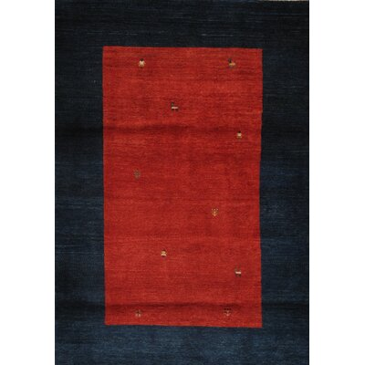 Gabbeh Hand-Knotted Rose/Navy Area Rug